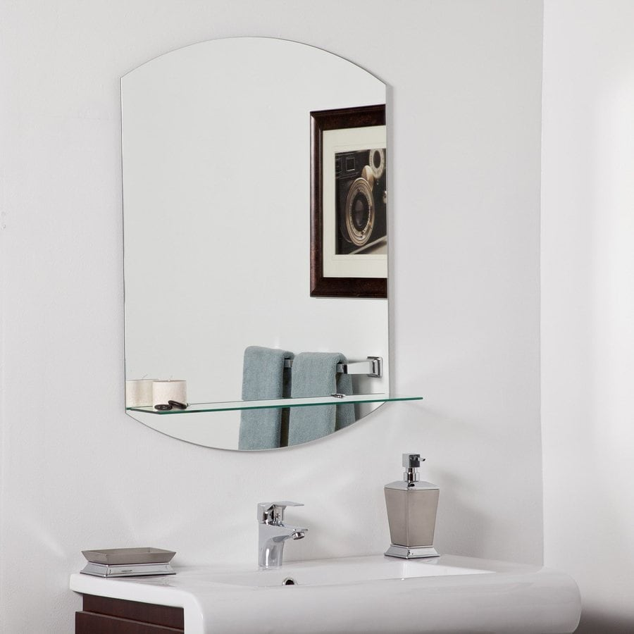Decor Wonderland Vanessa 23.6-in W x 31.5-in H Frameless Bathroom Mirror with Hardware and Beveled Edges
