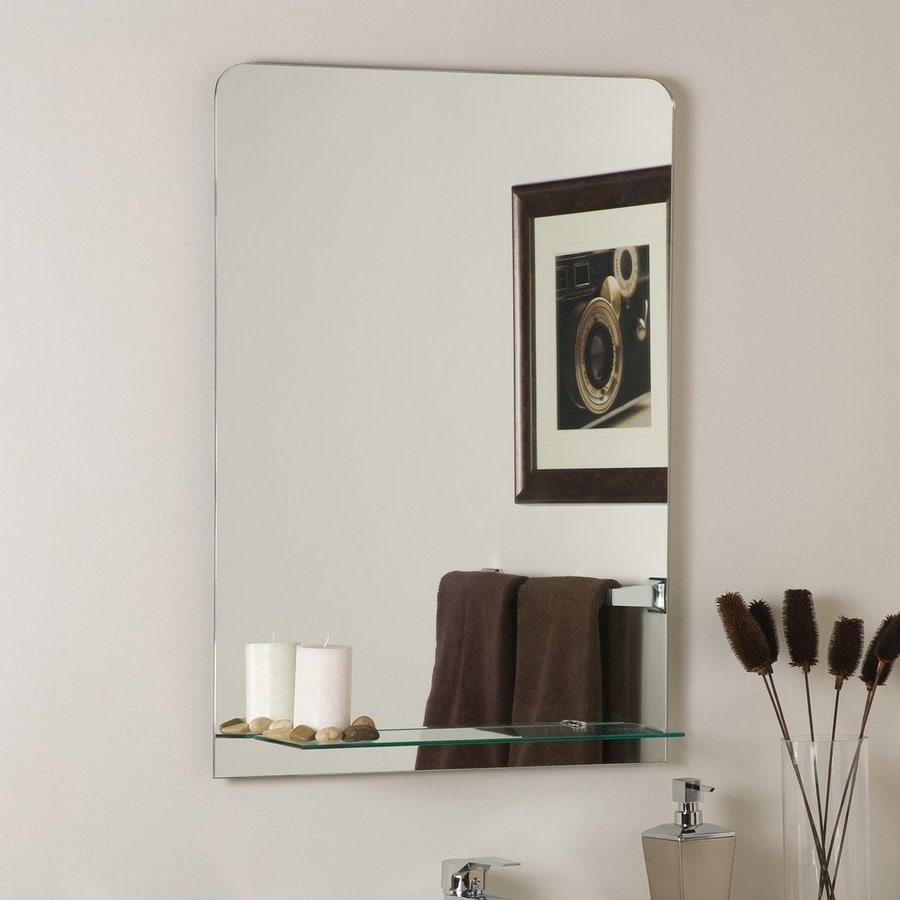 Shop decor wonderland columbus 23 6 in x 31 5 in for Frameless rectangular bathroom mirror