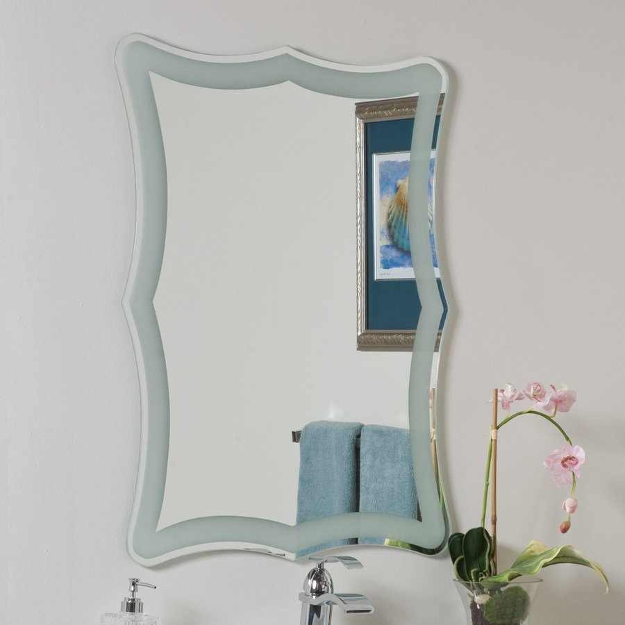 Decor Wonderland Coquette 23.6-in x 31.5-in Rectangular Framed Bathroom Mirror