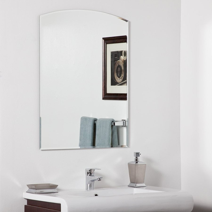 Frameless bathroom mirrors - Decor Wonderland Katherine 23 6 In W X 31 5 In H Arch Frameless Bathroom Mirror