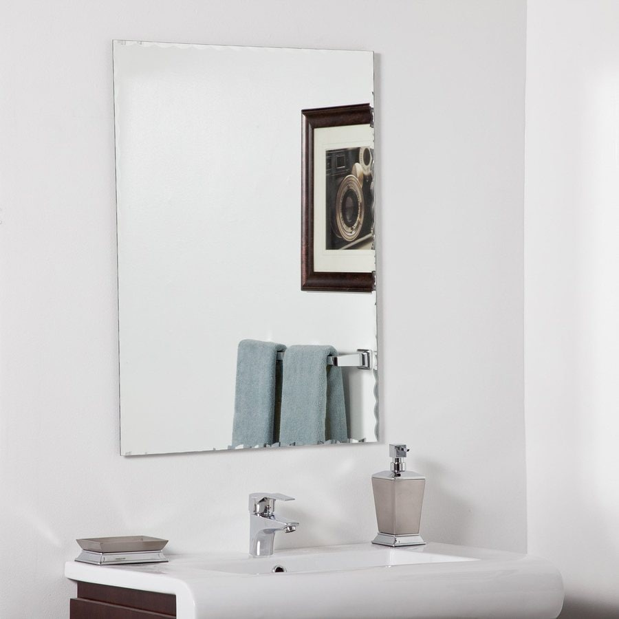 Frameless Bathroom Mirror Shop Decor Wonderland Madeline 236 In W X 315 In H Rectangular