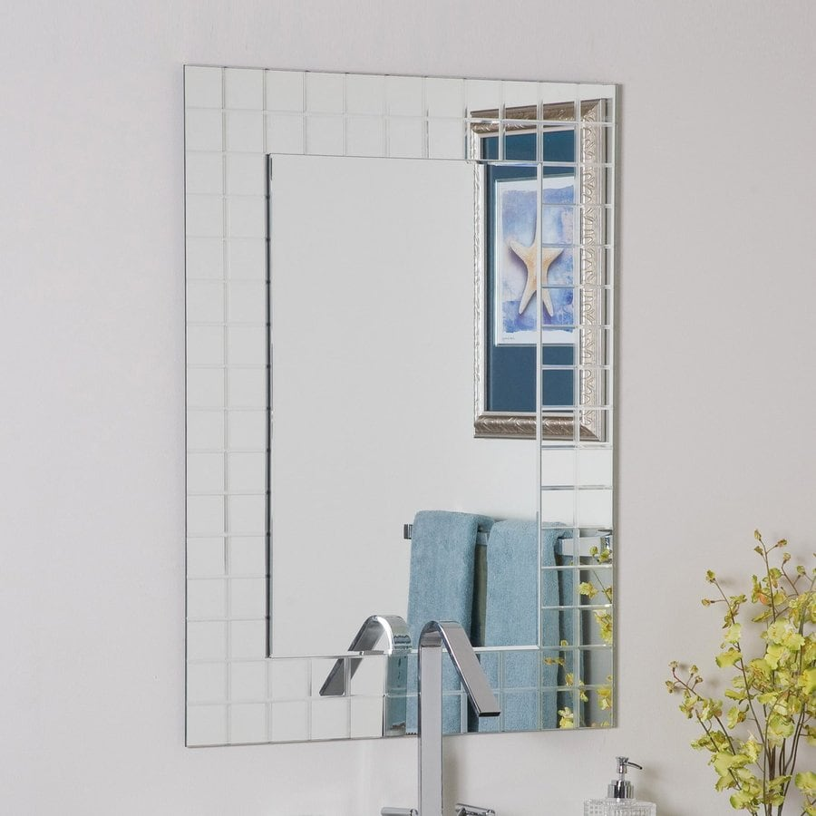Decor Wonderland Mischa 23.6-in x 31.5-in Rectangular Frameless Bathroom Mirror