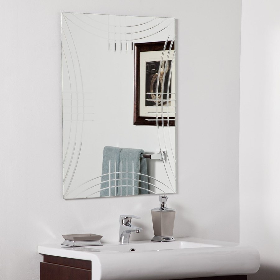 Decor Wonderland Caydon 23.6-in x 31.5-in Rectangular Frameless Bathroom Mirror