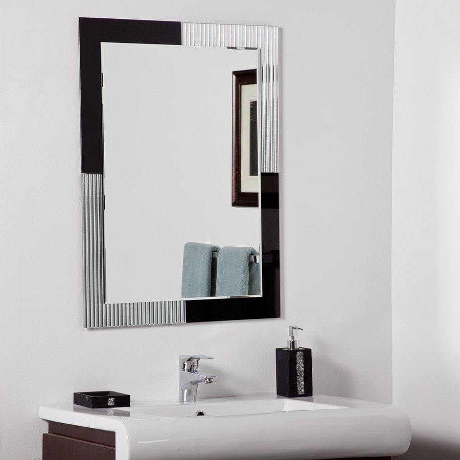Shop Decor Wonderland Jasmine 23.6-in Black Rectangular Bathroom ...