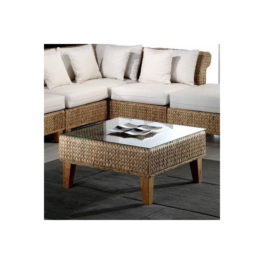 Hospitality Rattan Seagrass Natural Square Coffee Table