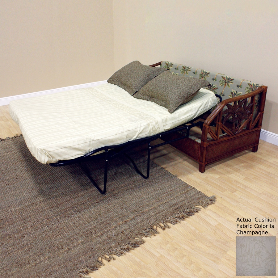 Hospitality Rattan Cancun Palm Champagne Sofa Bed