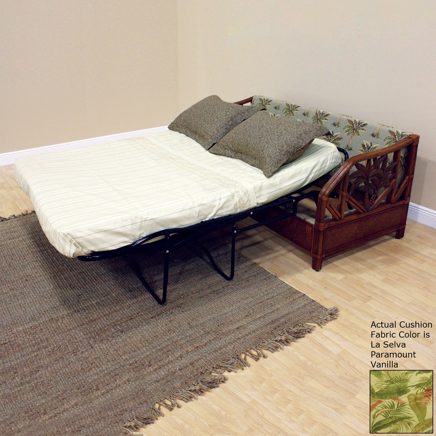 Hospitality Rattan Cancun Palm TC Antique Cotton Sofa Bed
