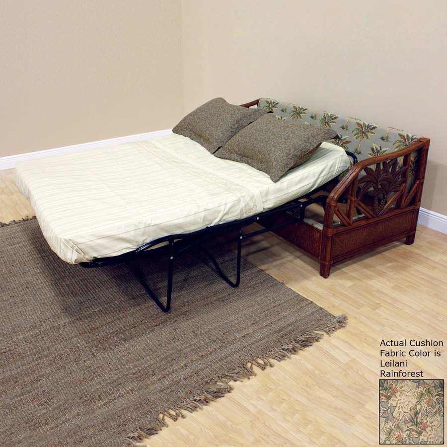 Hospitality Rattan Cancun Palm TC Antique Polyester Sofa Bed