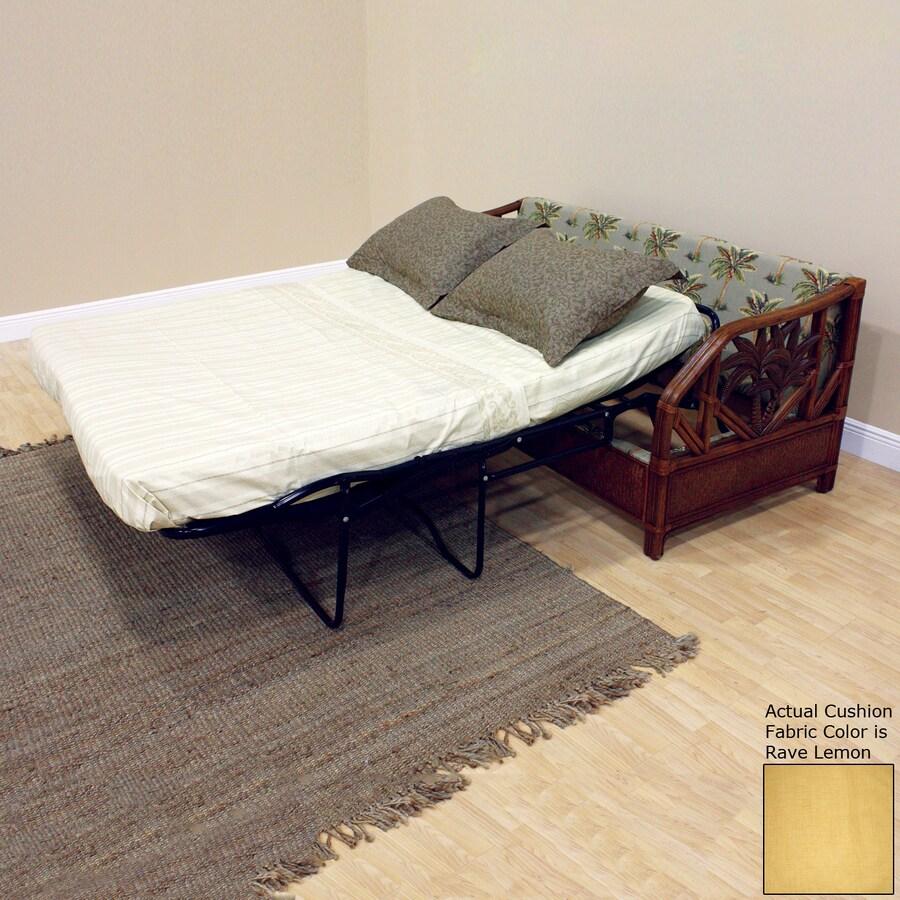 Hospitality Rattan Cancun Palm Rave Lemon Sofa Bed