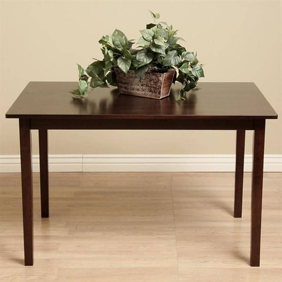 Warehouse Of Tiffany Dark Brown Wood Dining Table