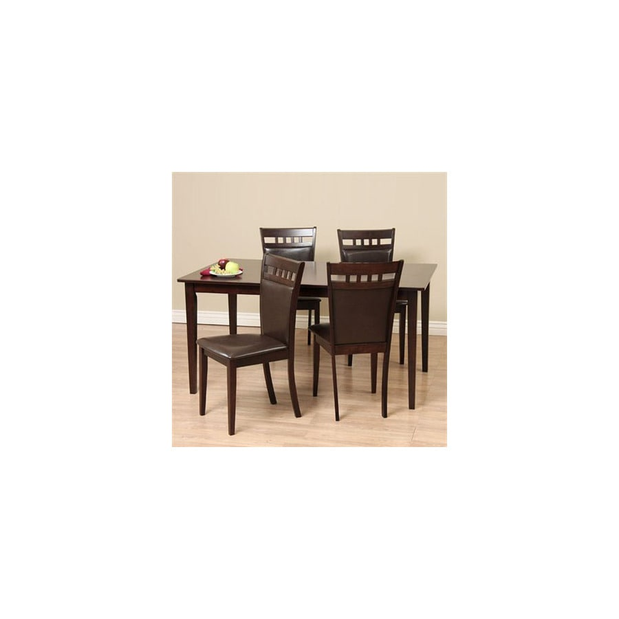 Warehouse Of Tiffany Shirlyn Light Cappuccino Dining Set