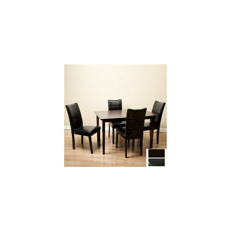 Warehouse of Tiffany Eveleen Black Stain Dining Set
