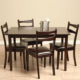 Warehouse Of Tiffany Callan Cappuccino 1 Piece Dining Set With Dining Table