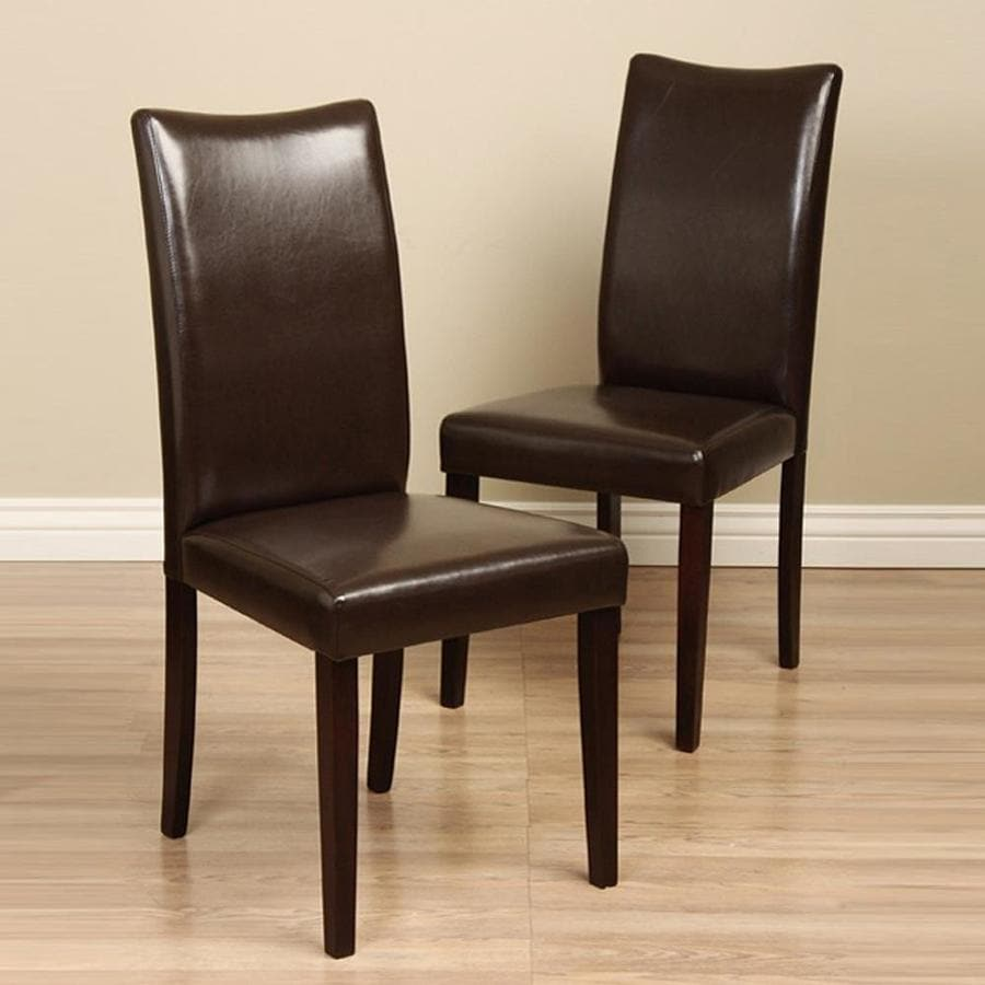 Warehouse of Tiffany Set of 4 Shino Light Cappuccino Dining Chairs