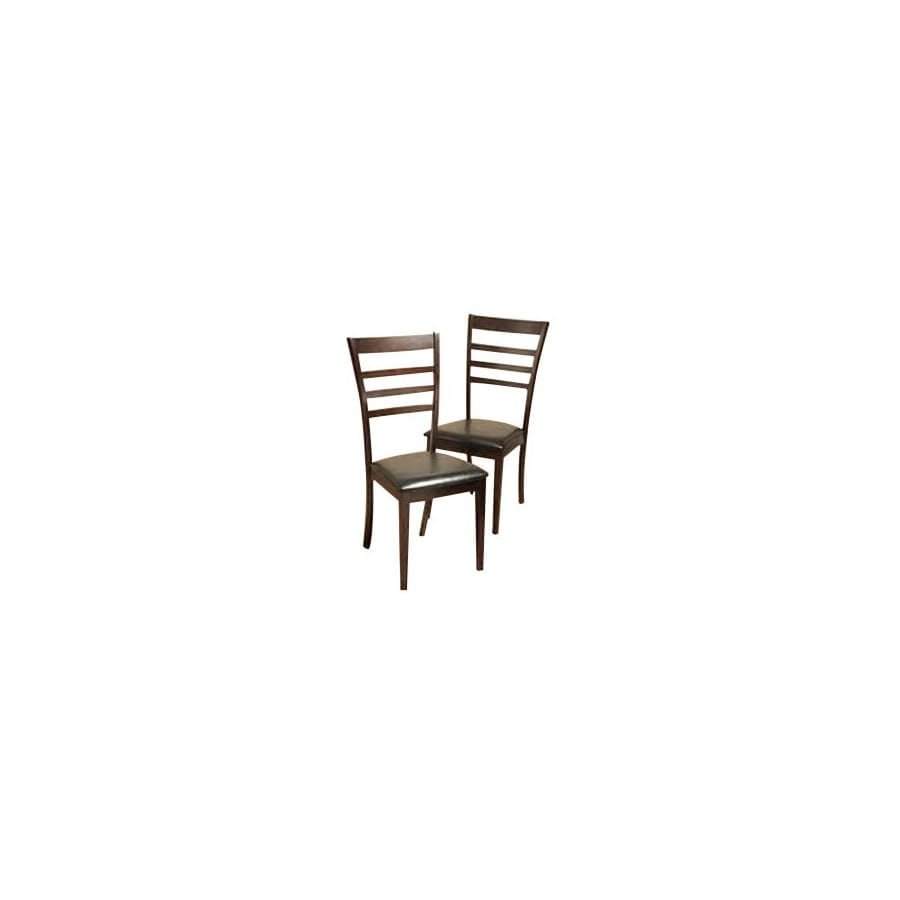 Warehouse of Tiffany Set of 2 Crystal Light Cappuccino Dining Chairs