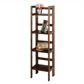 Winsome Wood Antique Walnut 4 Shelf Bookcase