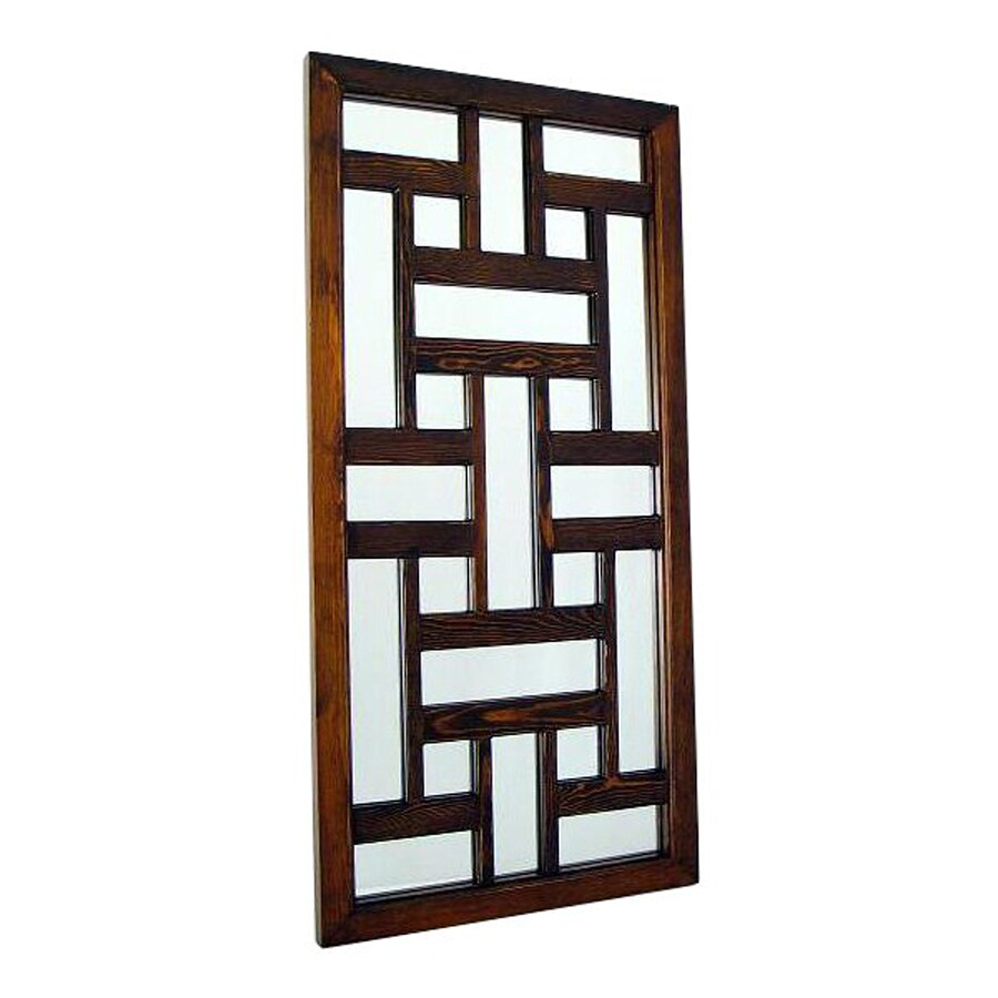 Wayborn Furniture Ninpo Brown Wall Mirror
