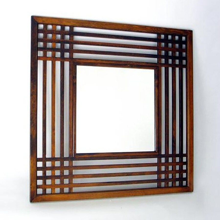 Wayborn Furniture Plantation Brown Square Wall Mirror