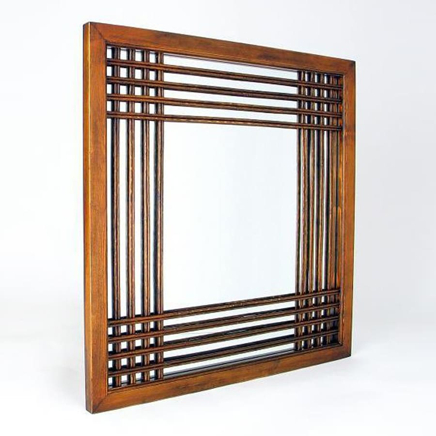 Wayborn Furniture Burma Brown Square Wall Mirror