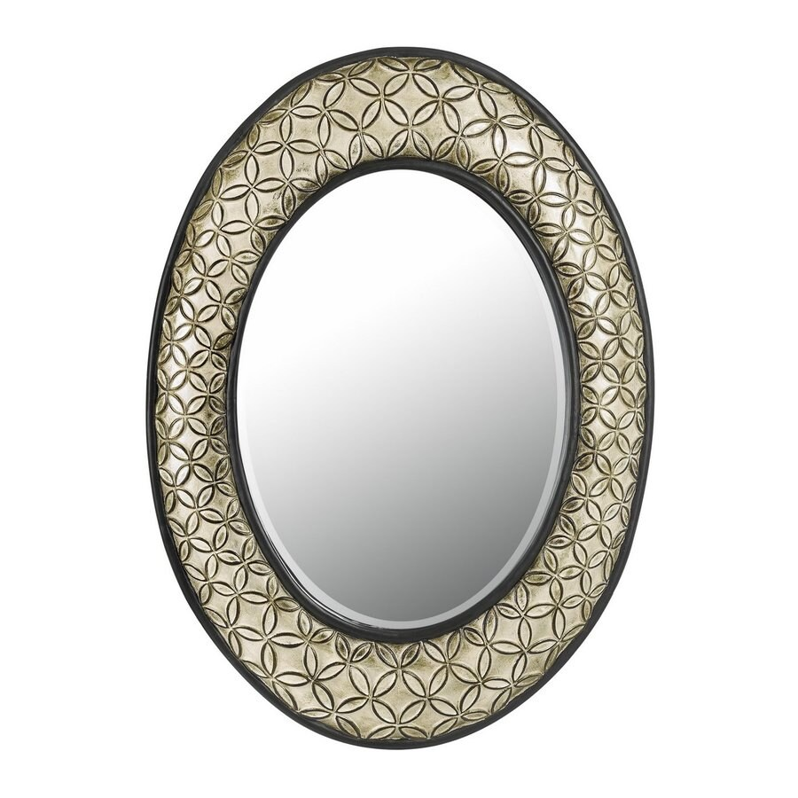 Cal Lighting Argent Beveled Oval Wall Mirror