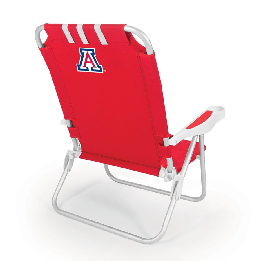 Picnic Time Red NCAA Arizona Wildcats Steel Folding Beach Chair
