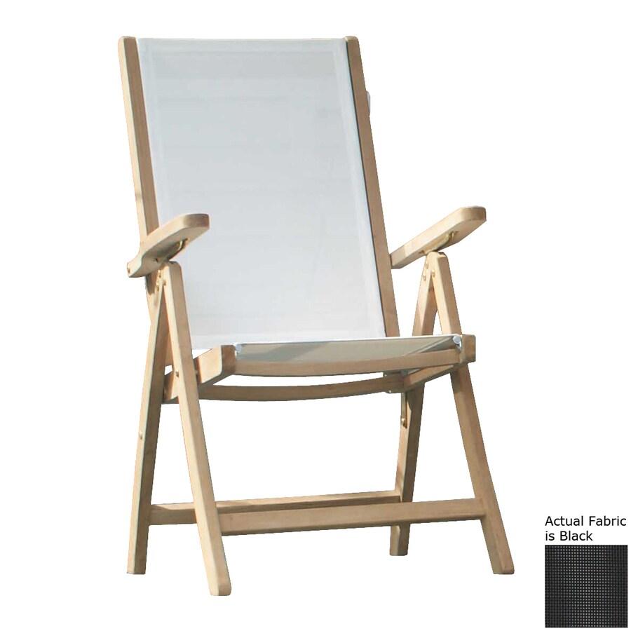 Jewels of Java Black Teak Folding Beach Chair