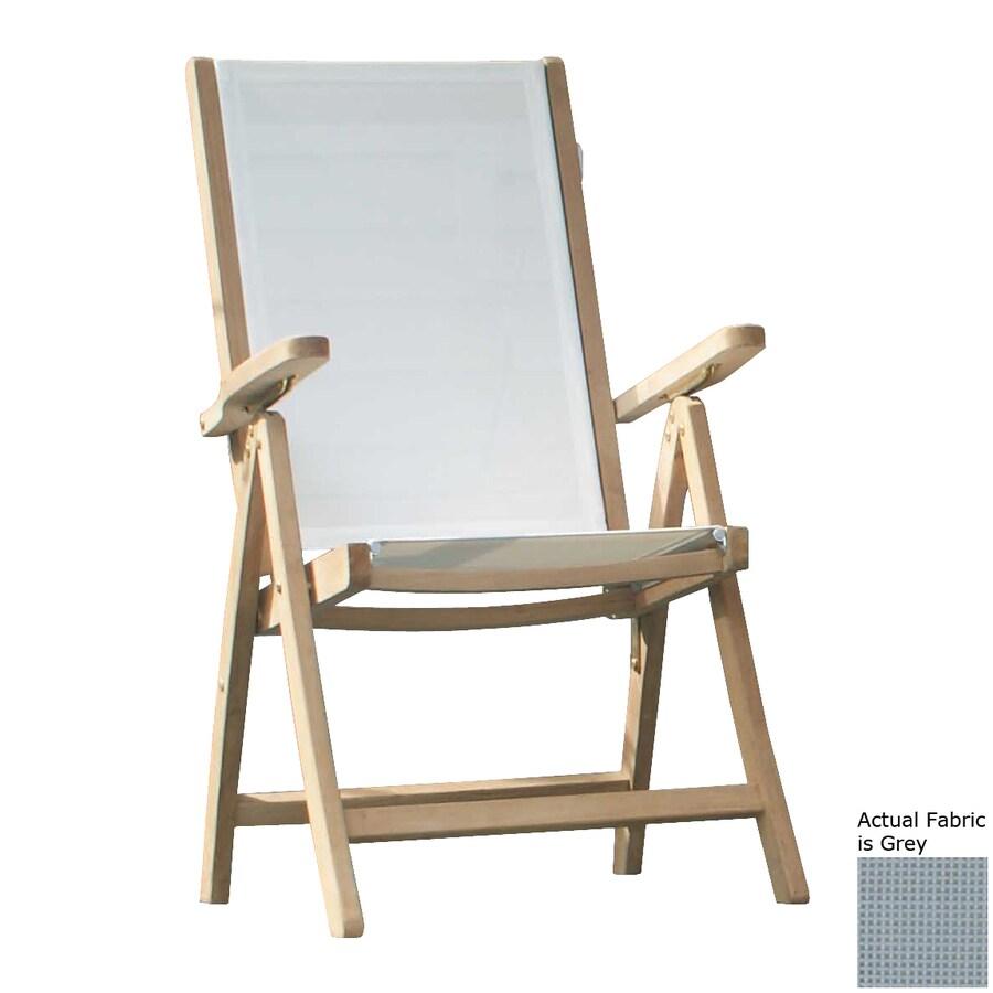 Jewels of Java Grey Teak Folding Beach Chair
