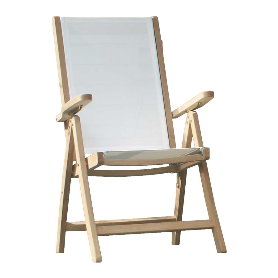 Jewels of Java White Teak Folding Beach Chair