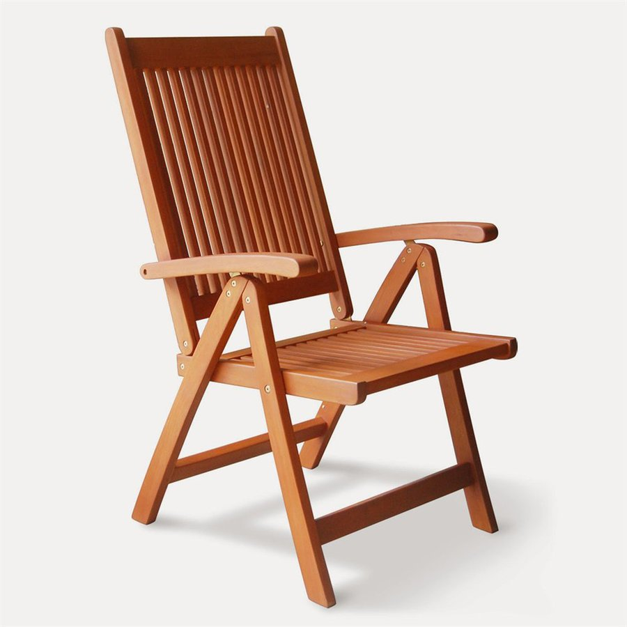 shop vifah vista eucalyptus folding patio dining chair at