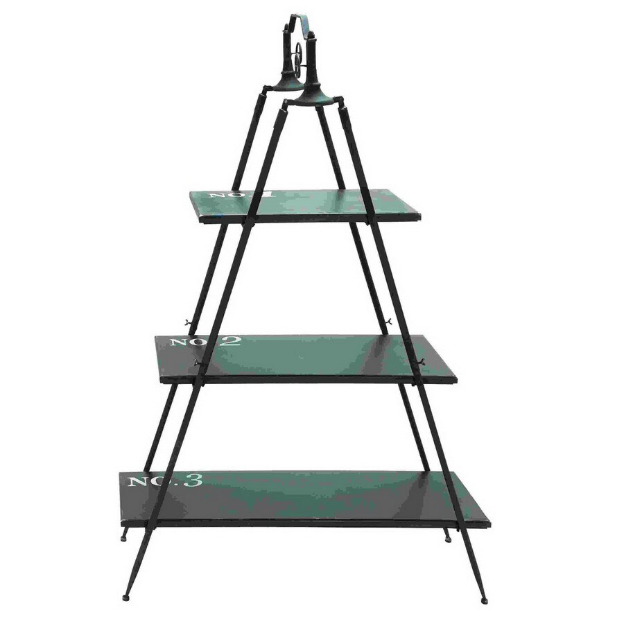 Woodland Imports 66-in H x 44-in W x 15-in D 3-Tier Wood Freestanding Shelving Unit