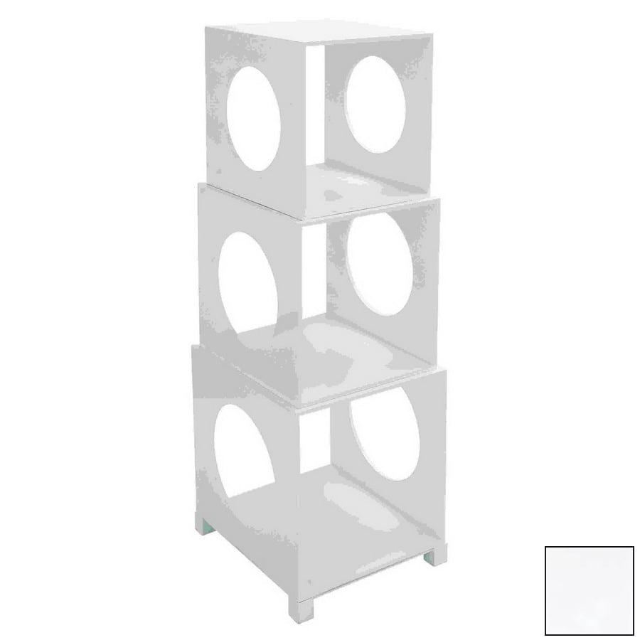 Woodland Imports H x W x D 3-Tier Wood Freestanding Shelving Unit