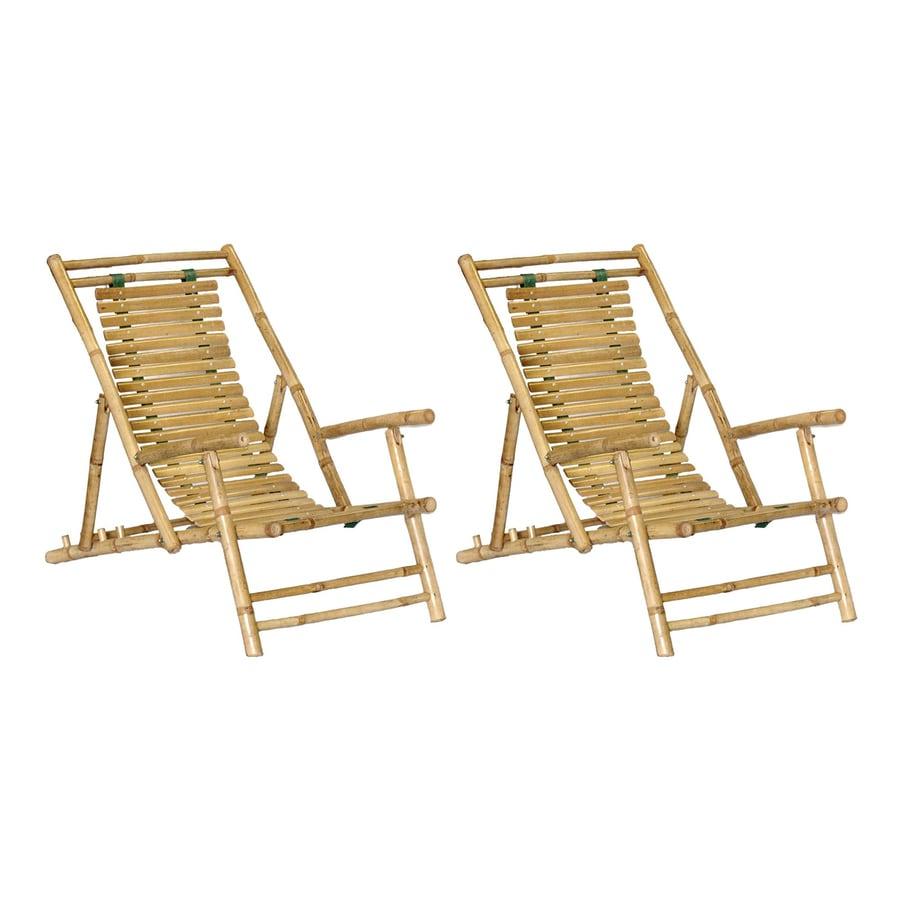 Bamboo 54 Natural Bamboo Folding Beach Chair