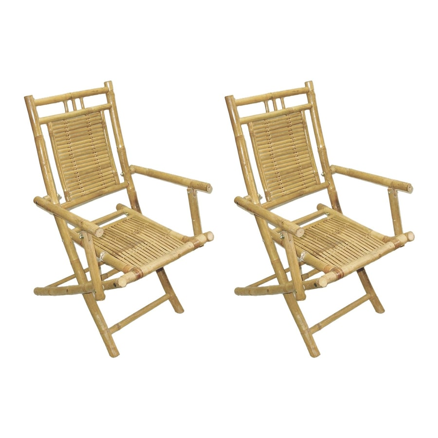 Bamboo 54 2-Pack Bamboo Folding Chairs