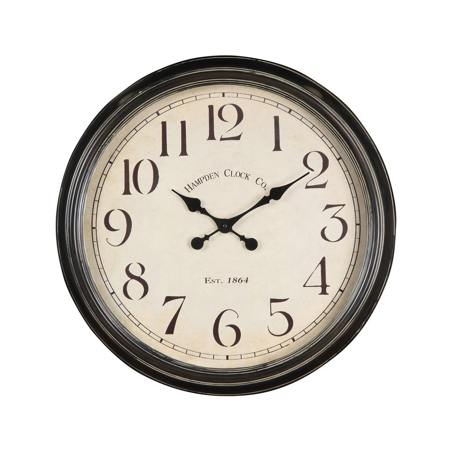 Cooper Classics Whitley Analog Round Indoor Wall Standard Clock