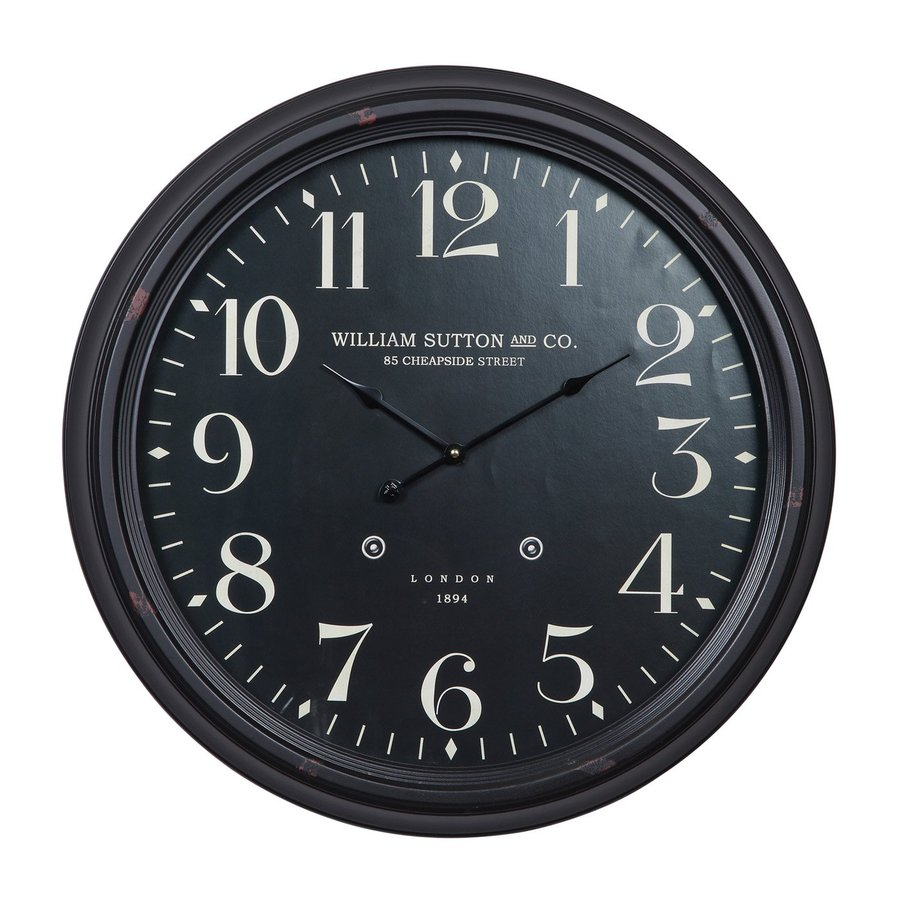 Cooper Classics Norton Analog Round Indoor Wall Standard Clock