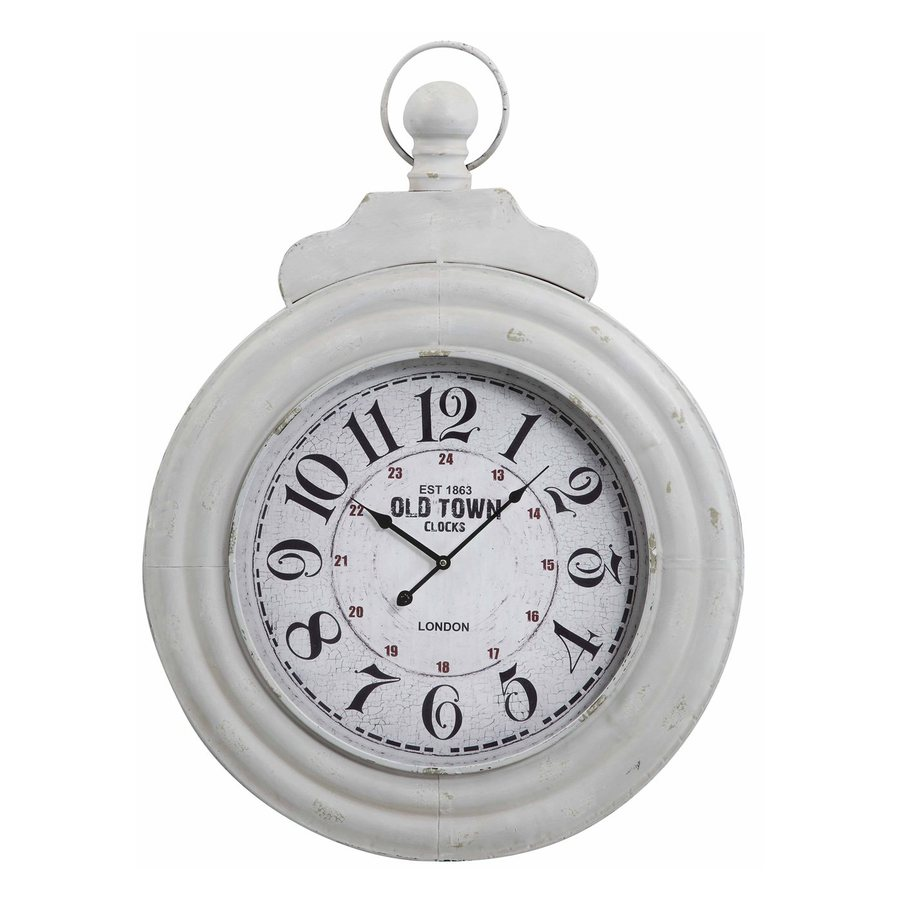 Cooper Classics Dillon Analog Round Indoor Wall Standard Clock
