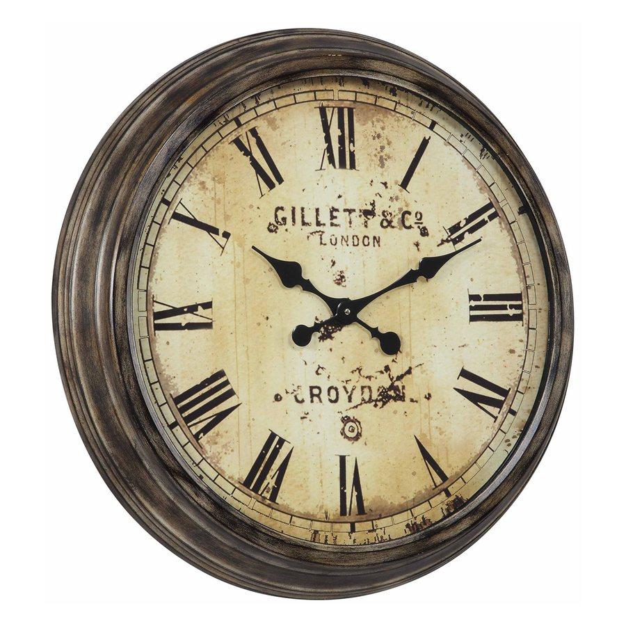 Cooper Classics Frye Analog Round Indoor Wall Standard Clock