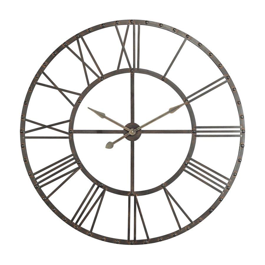 Cooper Classics Upton Analog Round Indoor Wall Standard Clock