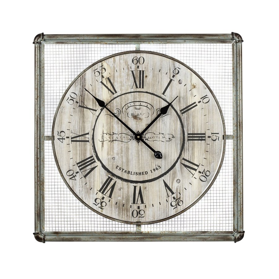 Cooper Classics Bartow Analog Square Indoor Wall Standard Clock
