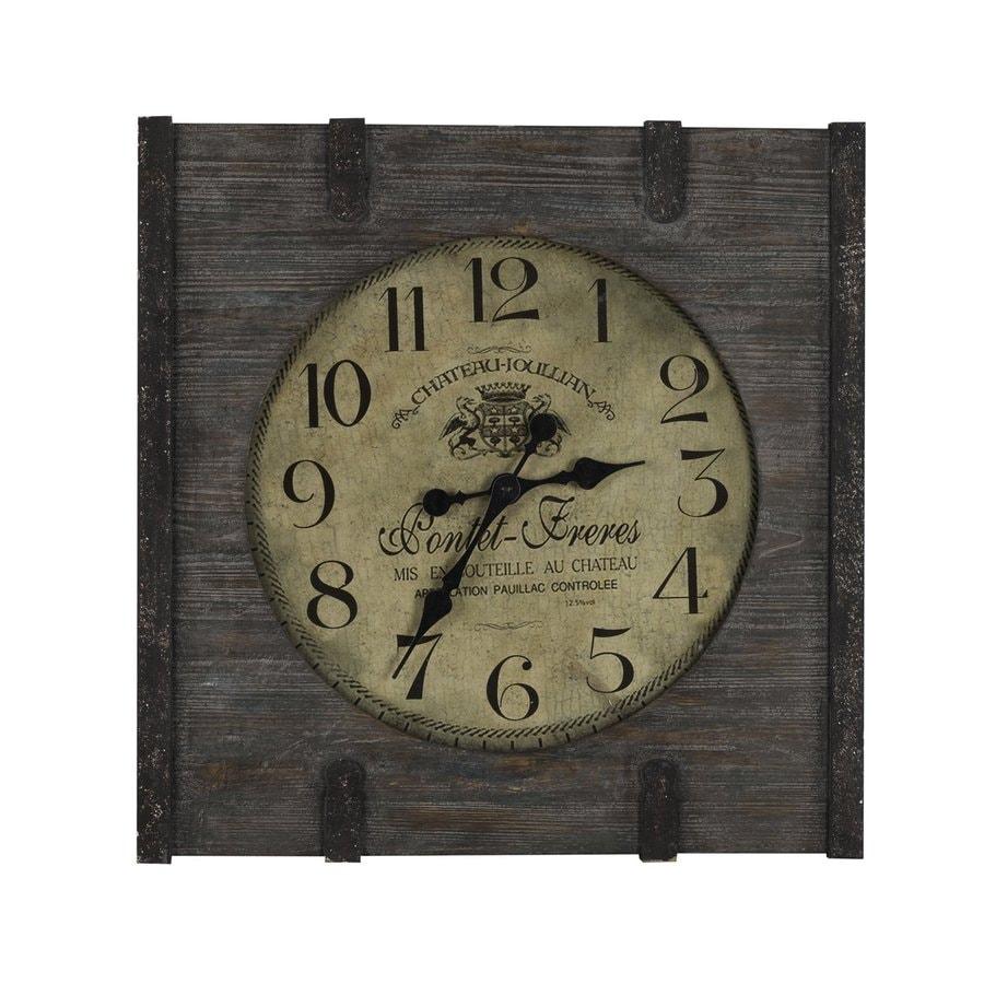 Cooper Classics St. Clair Analog Square Indoor Wall Standard Clock