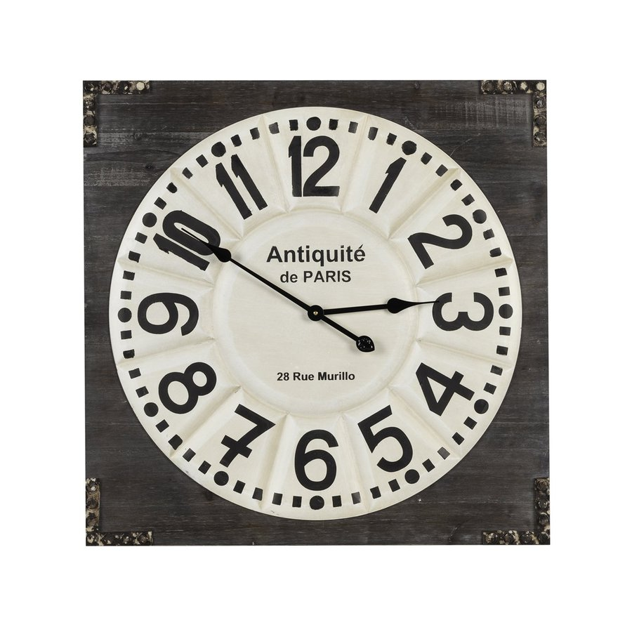 Cooper Classics Talbert Analog Square Indoor Wall Standard Clock
