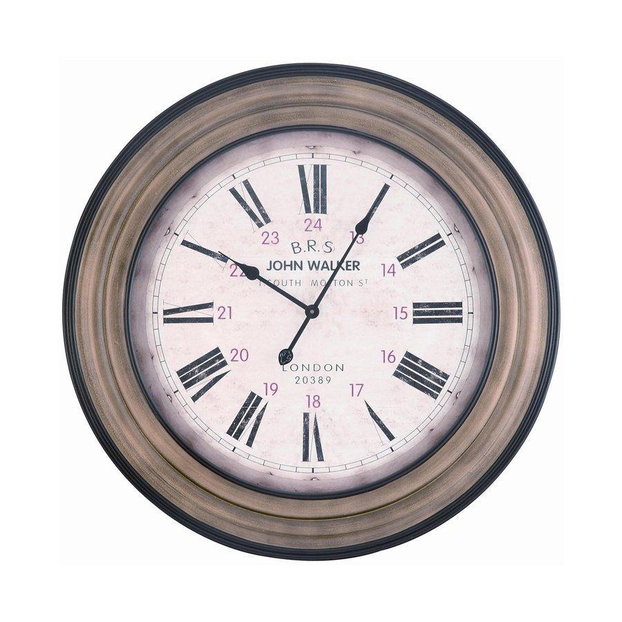 Cooper Classics Hamilton Analog Round Indoor Wall Standard Clock