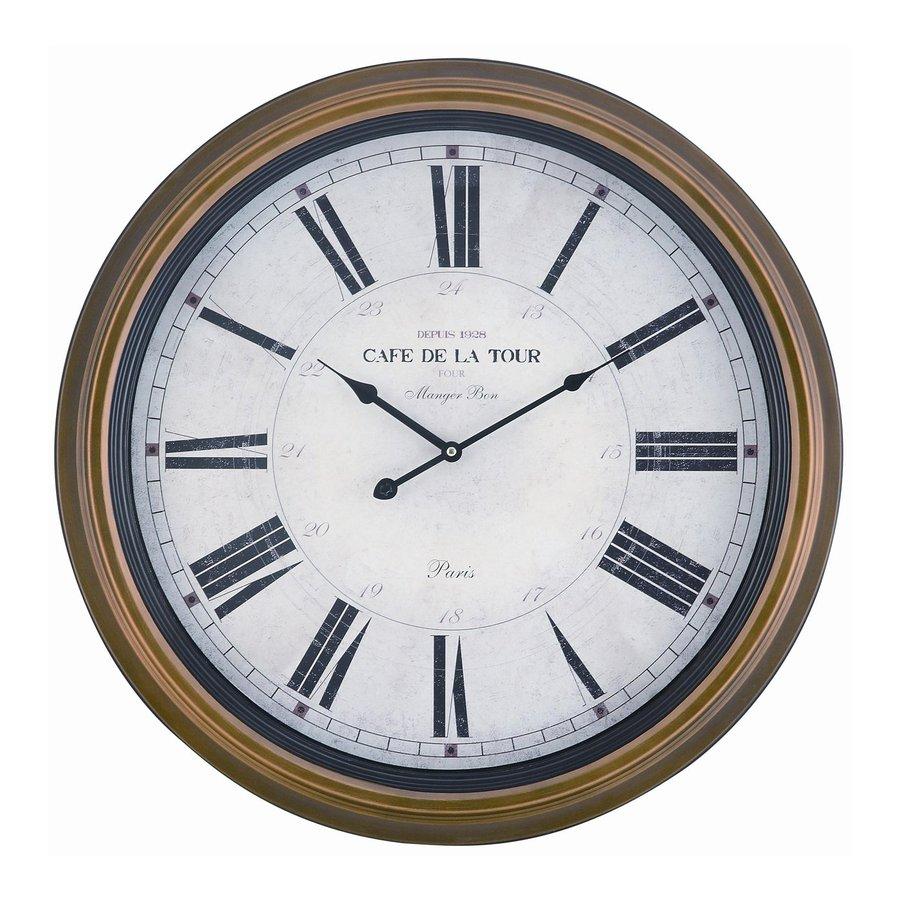 Cooper Classics Henley Analog Round Indoor Wall Standard Clock