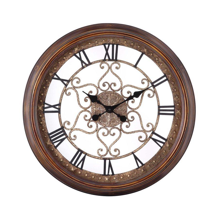 Cooper Classics Audrey Analog Round Indoor Wall Standard Clock