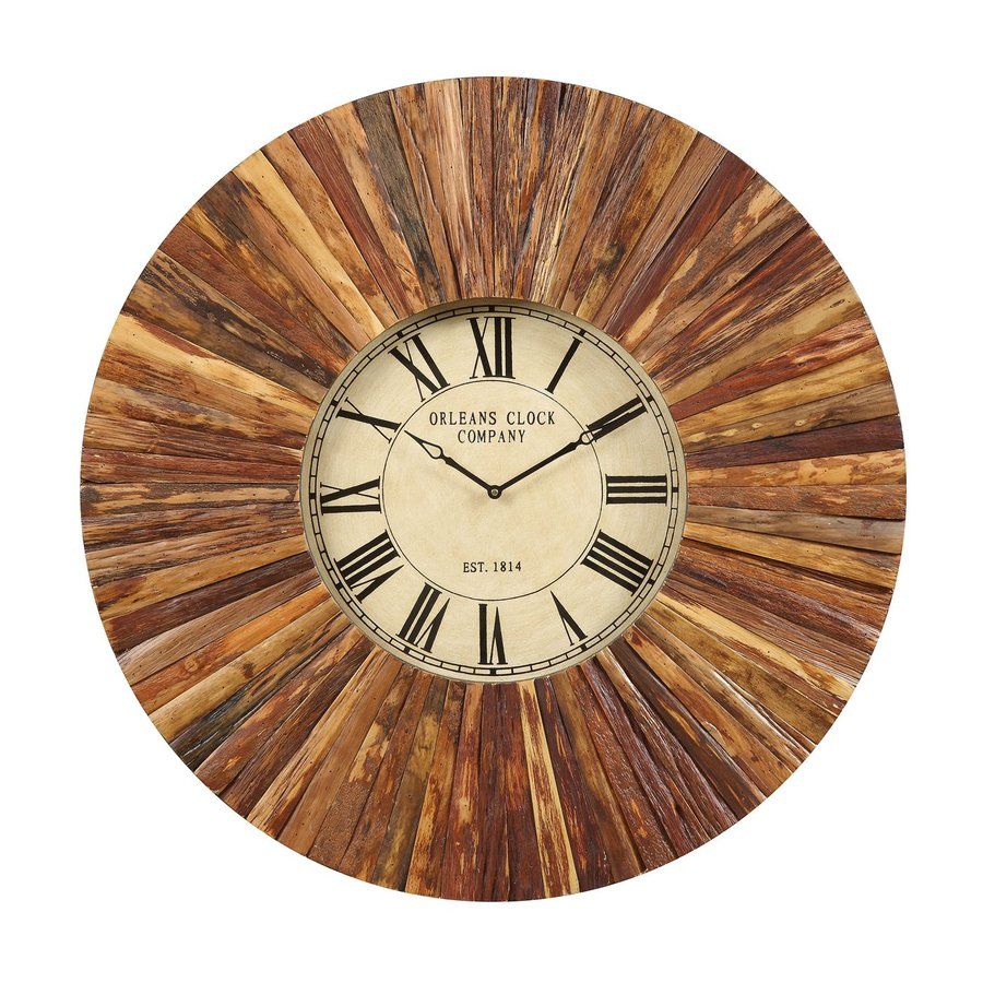 Cooper Classics Chatham Analog Round Indoor Wall Standard Clock