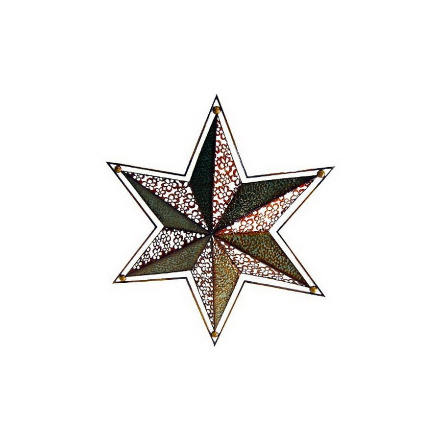 Cheung's 32.75-in W x 28.25-in H Frameless Metal Star 3D Wall Art