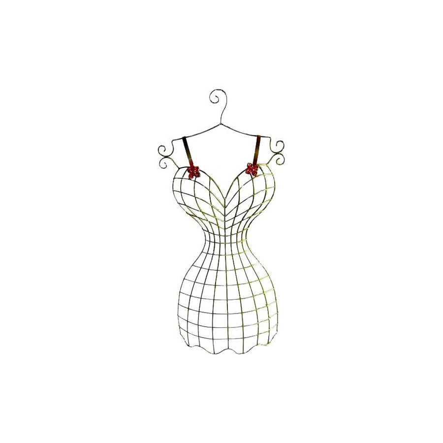 Cheung's 15.75-in W x 36.75-in H Frameless Metal Dress Hanger Sculptural Wall Art