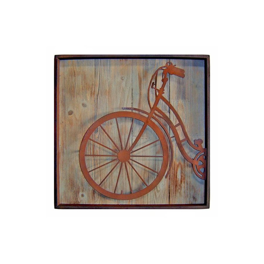 Cheung's 22-in W x 22-in H Framed Metal Bicycle Front Print Wall Art