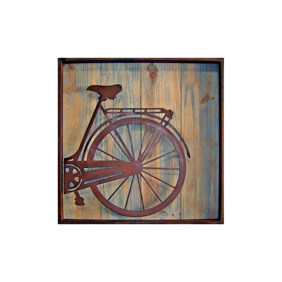 Cheung's 22-in W x 22-in H Framed Metal Bicycle Rear Print Wall Art