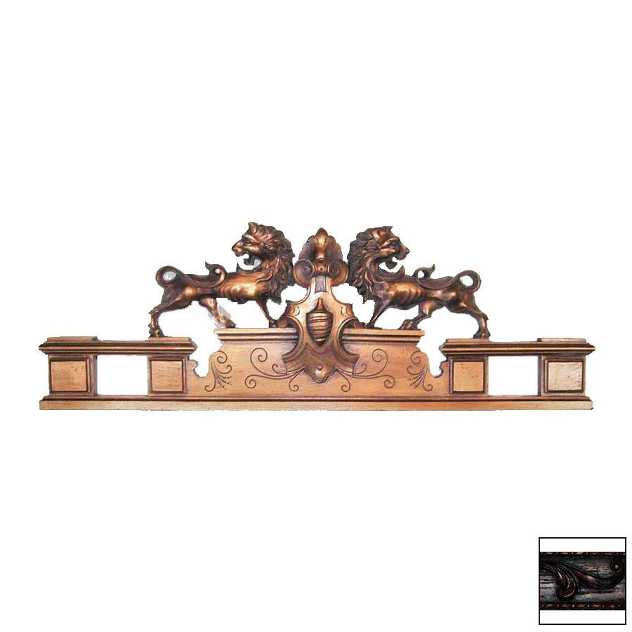 Hickory Manor House 37-in W x 12-in H Frameless English Lions Sculptural Wall Art
